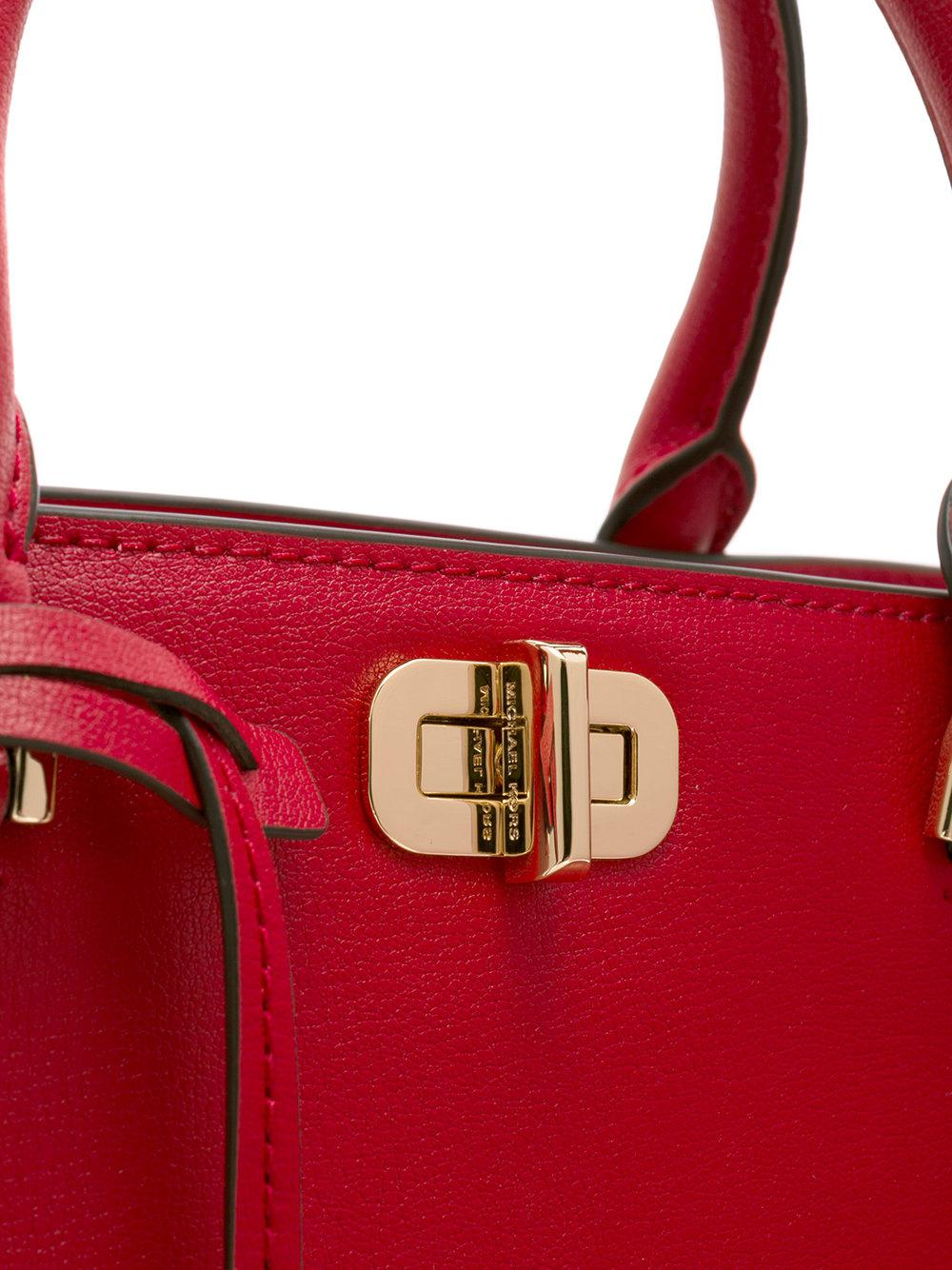 MICHAEL Michael Kors Leather Sylvie Tote Bag in Red