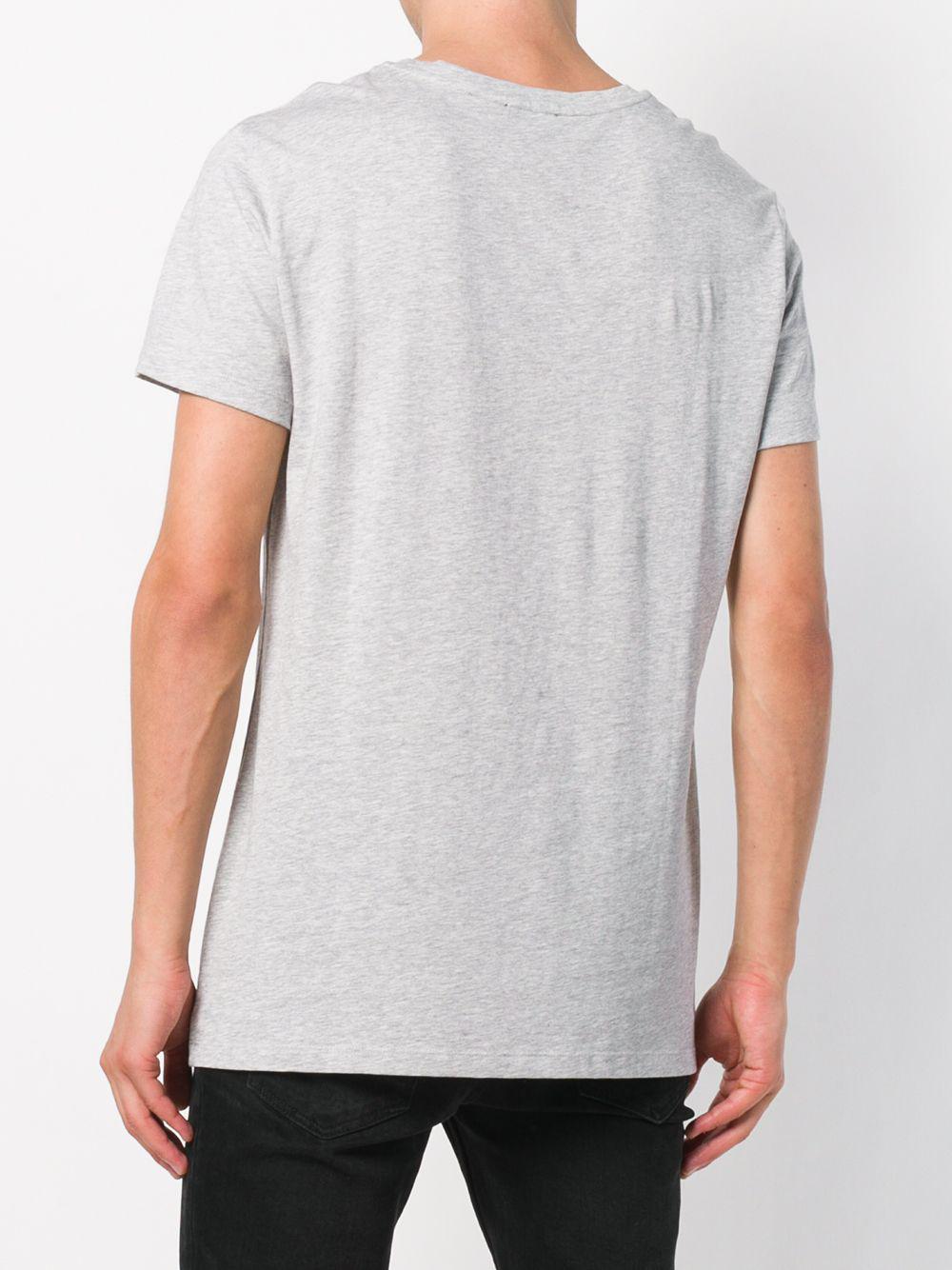 Balmain Printed T-shirt in Grey (Grey) for Men