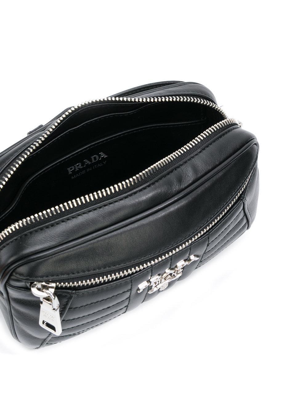 d2e6fca5309291 ... new arrivals prada black bevelled belt bag lyst. view fullscreen 57caa  e6260