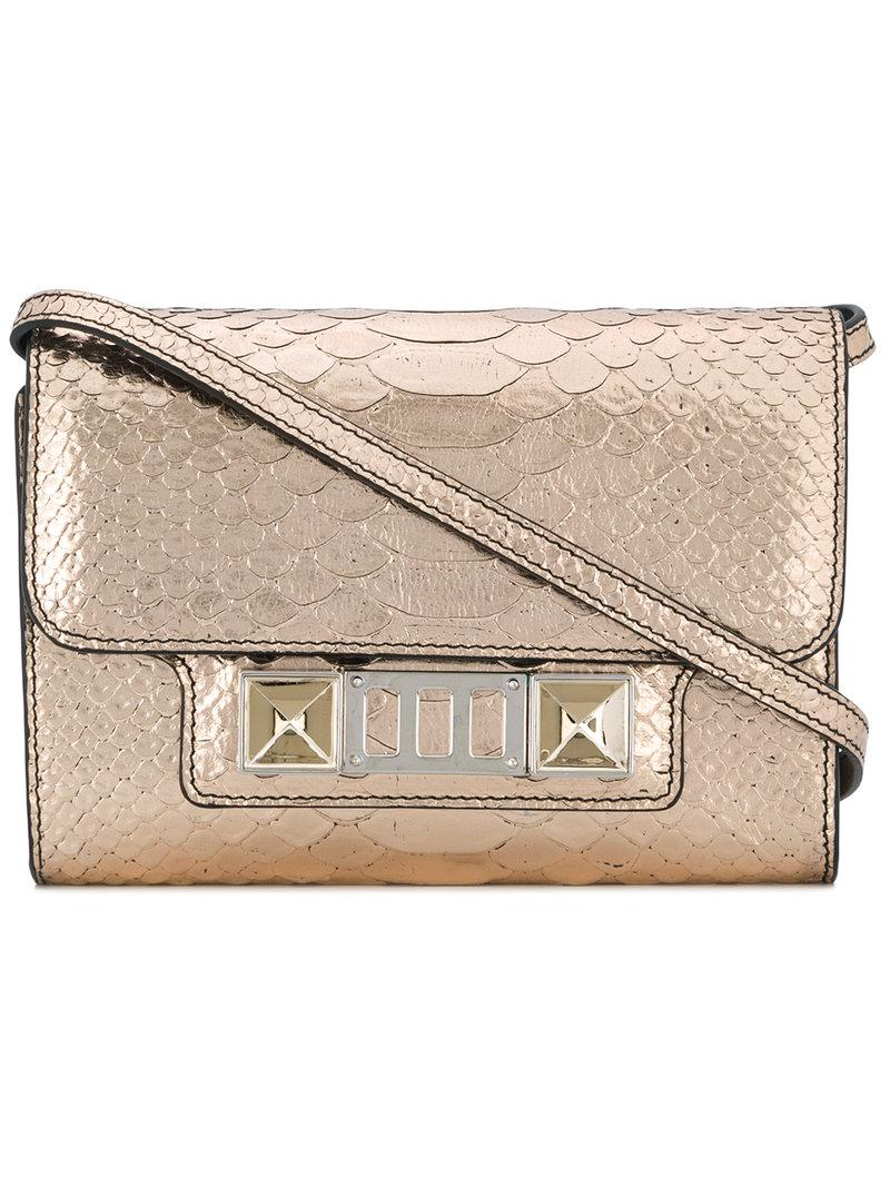 Discount New Arrival For Sale For Sale Proenza Schouler Embossed Python PS11 Wallet with Strap GEaq6UJ