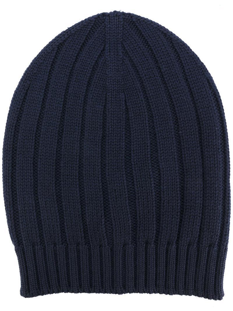 ribbed knit beanie - Blue Eleventy cyXNylJ6