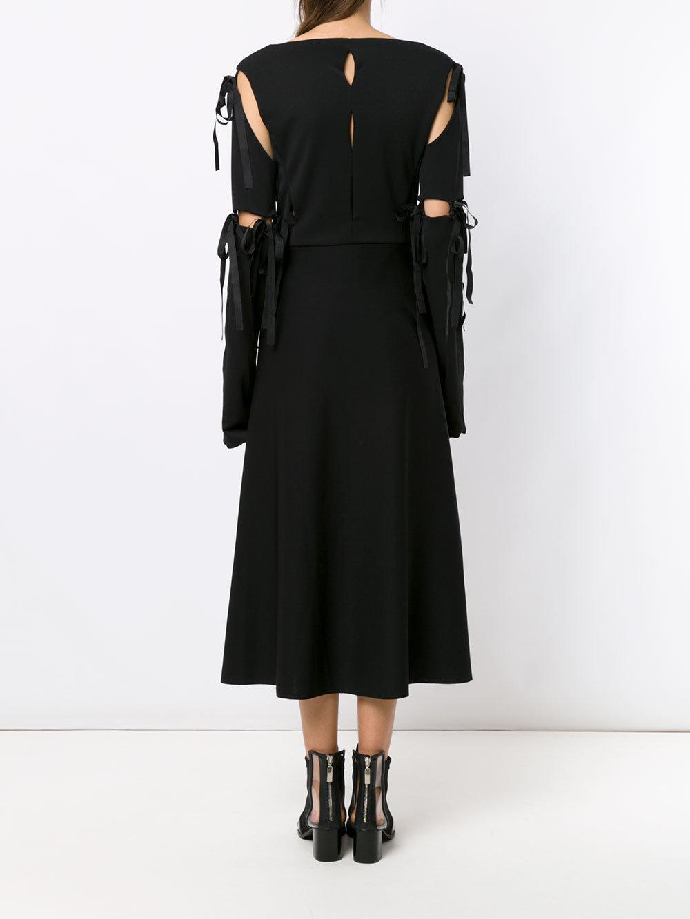 Midi panelled dress Synthétique Gloria Coelho en coloris Noir