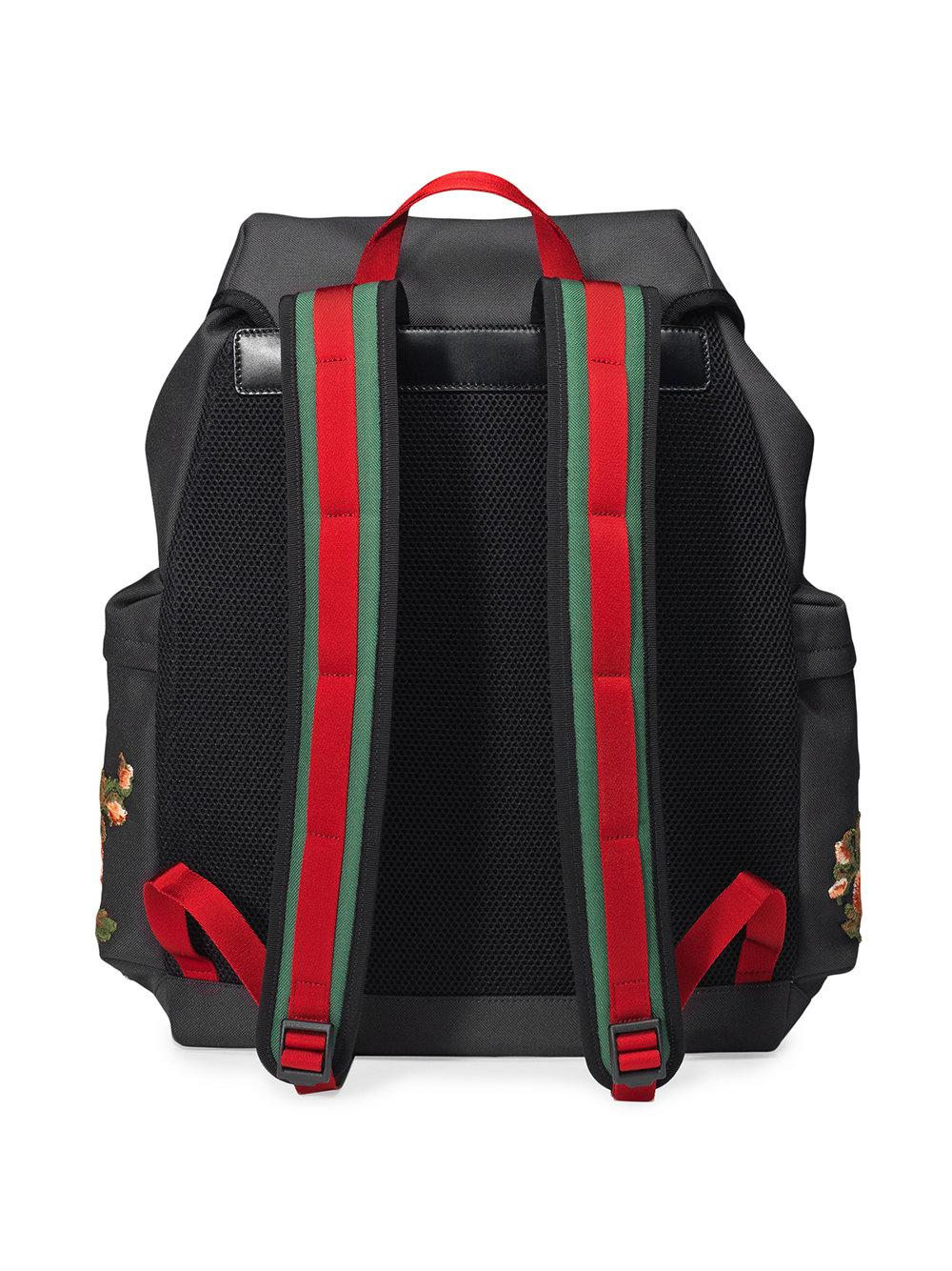 Gucci - Black Techpack With Embroidery for Men - Lyst. View fullscreen fa125c3662e7d