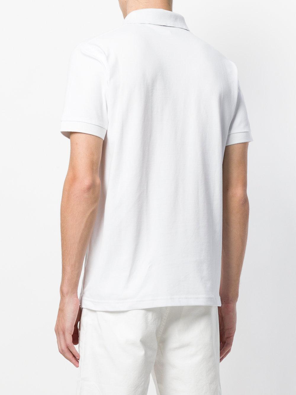 Sun 68 Cotton Hawaii Pocket Polo Shirt in White for Men