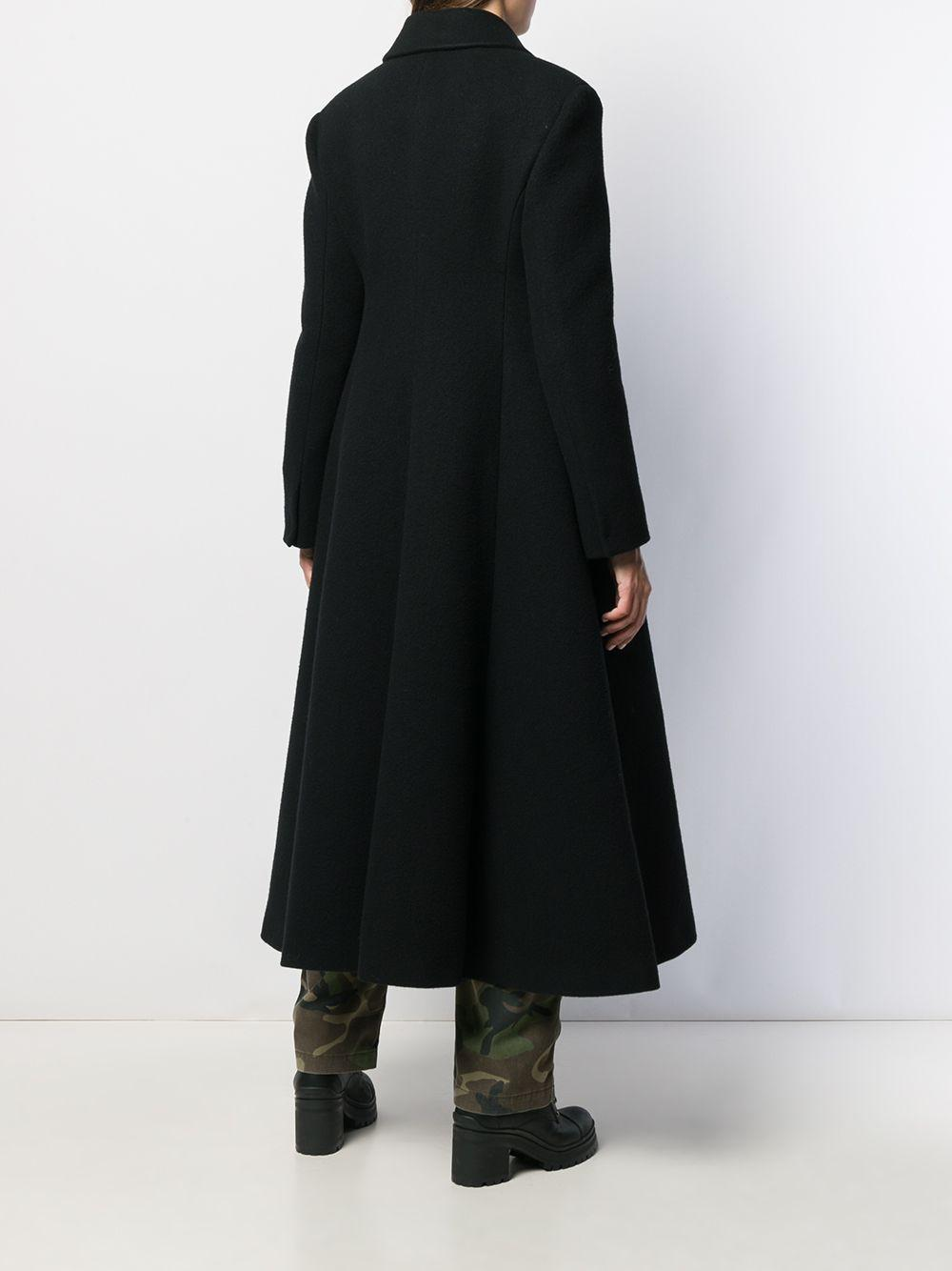 Abrigo acampanado ajustado Miu Miu de Lana de color Negro