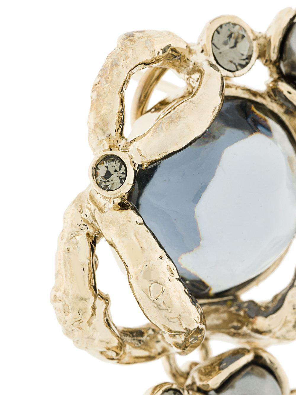 Koché three flowers ring - Metallic Ol5SHys