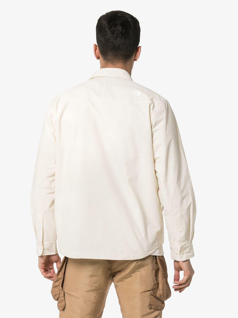 7454511b8 The North Face Coach Nylon Strap Pocket Shirt in White for Men - Lyst