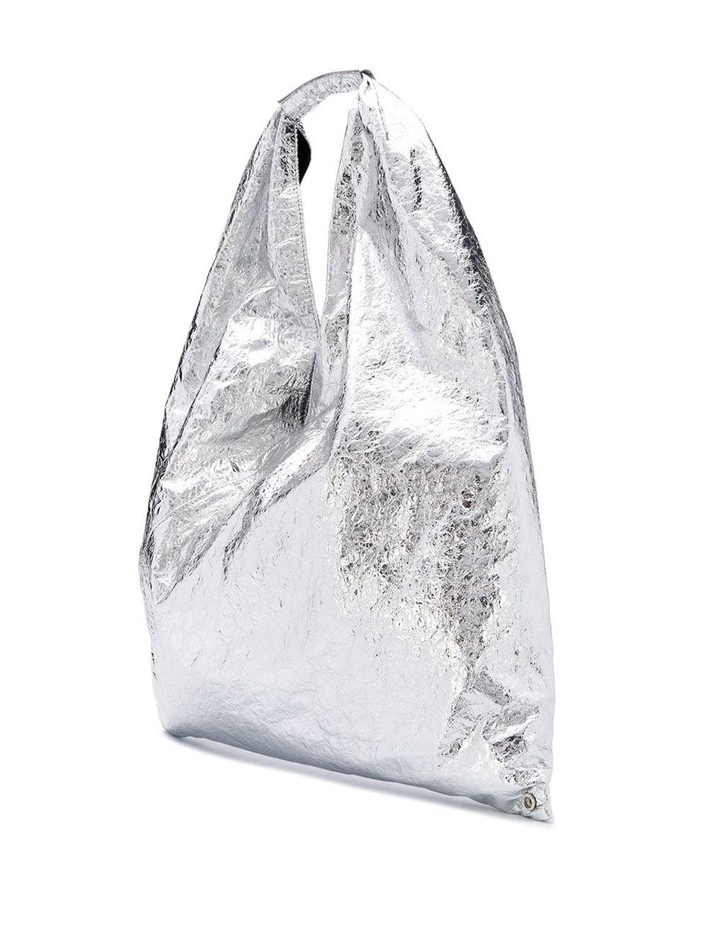 MM6 by Maison Martin Margiela Leather Japanese Tote Bag in Silver (Metallic)