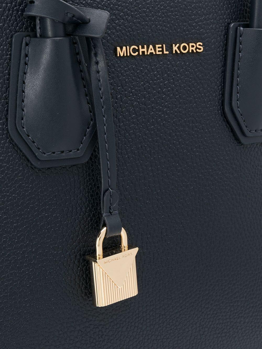MICHAEL Michael Kors Leder Kleine Handtasche in Blau RrlIE
