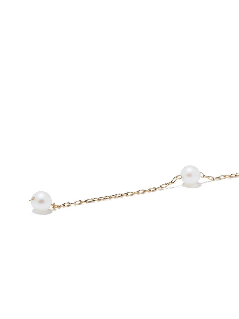 Orecchini in oro 14kt con perle Akoya di Mizuki in Metallizzato