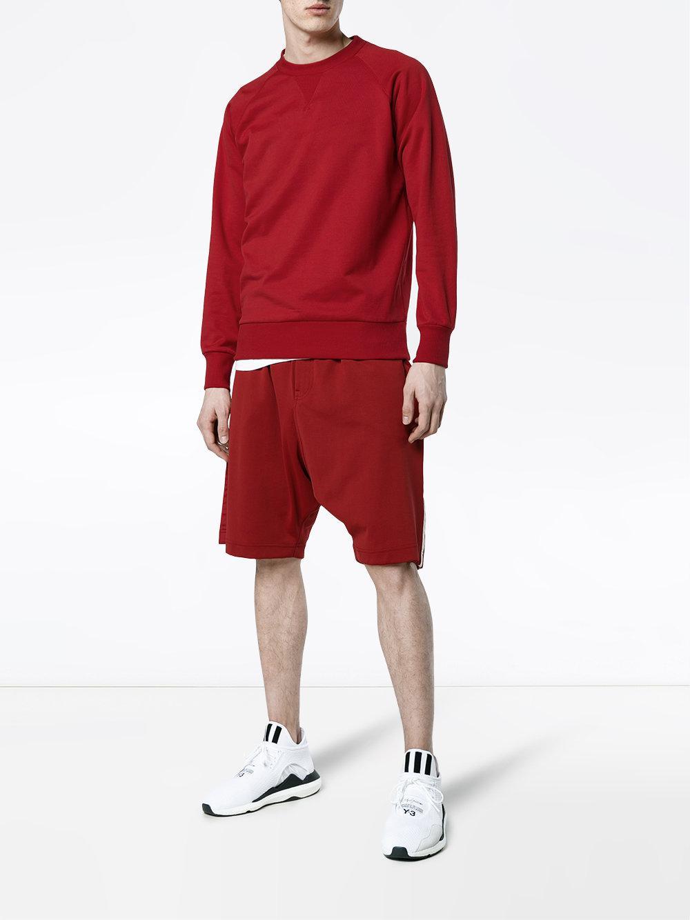 Y-3 Cotton Branded Sweatshirt in Red for Men