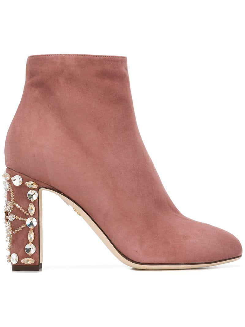 c4a7d4c71ad Lyst - Dolce   Gabbana Zip-up Ankle Boots in Pink - Save 38%