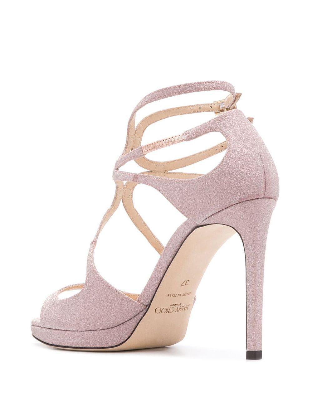Sandales à talon aiguille Cuir Jimmy Choo en coloris Rose