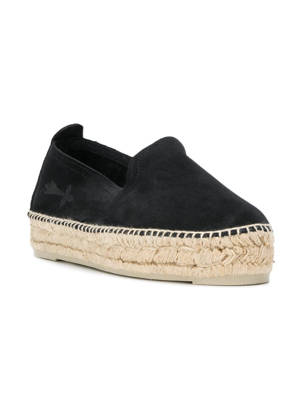 Manebí Suede Chunky Sole Espadrilles in