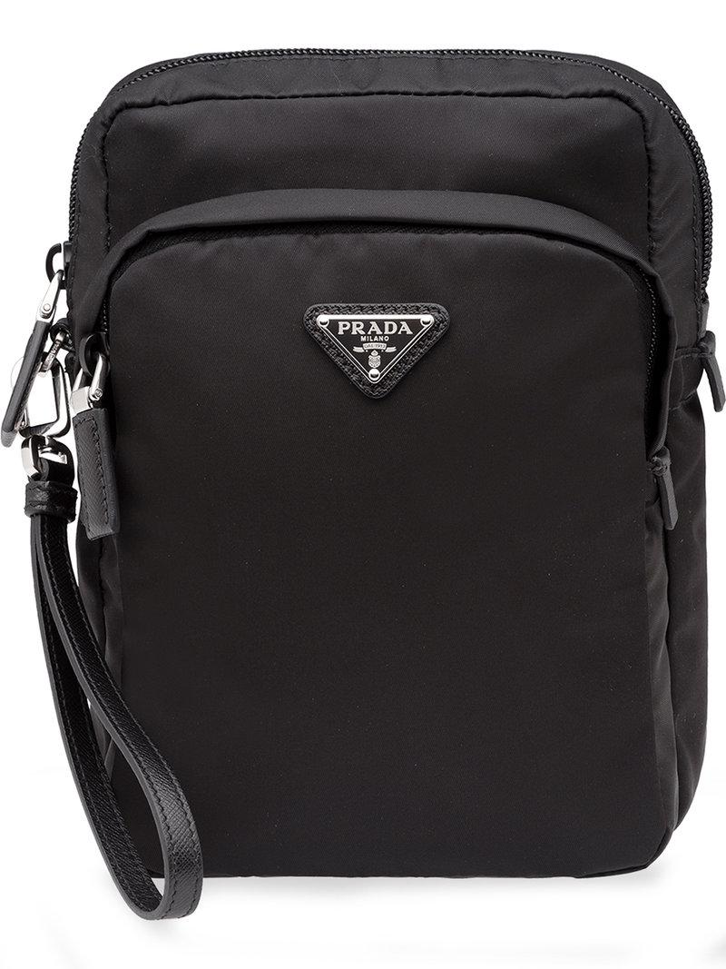 Prada - Black Saffiano Messenger Bag for Men - Lyst. View fullscreen dbd04d3d02