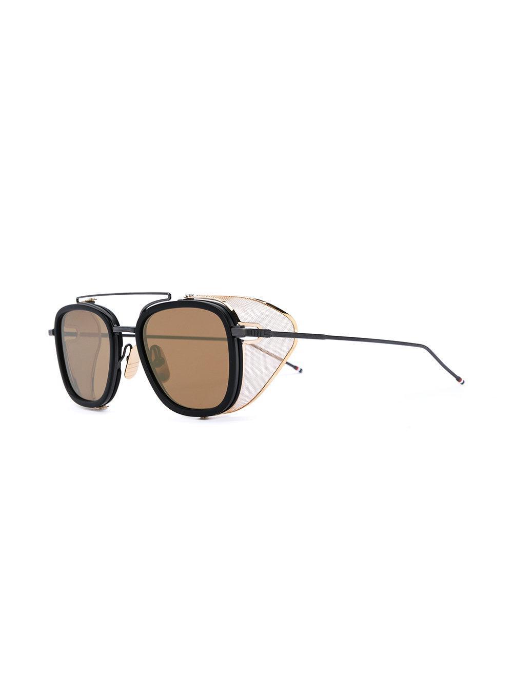 f7981f858551 Lyst - Thom Browne Tb-808 Sunglasses in Black