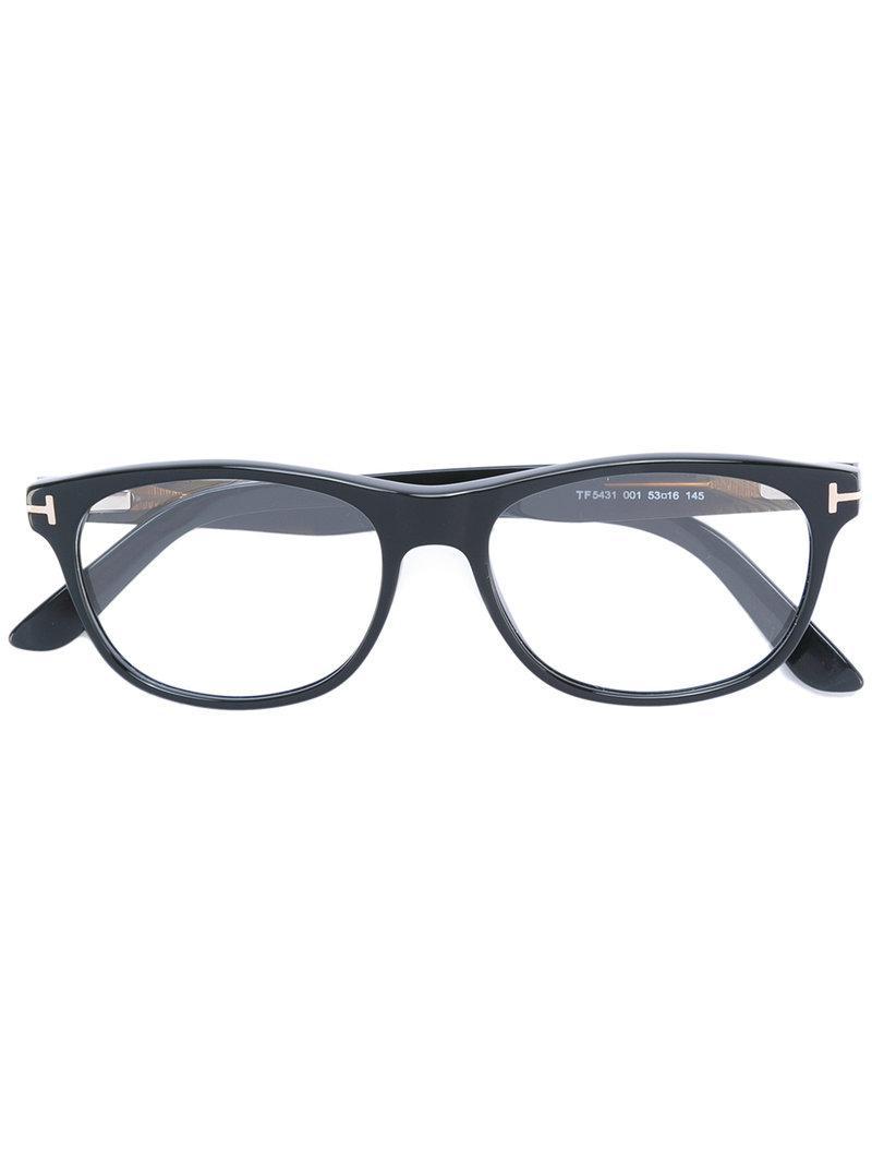 fa254070f79 Tom Ford Square Frame Glasses in Black - Lyst