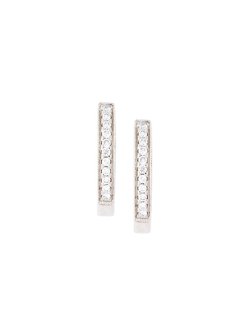 Wouters & Hendrix diamond hoop earrings - Metallic IzQZEed