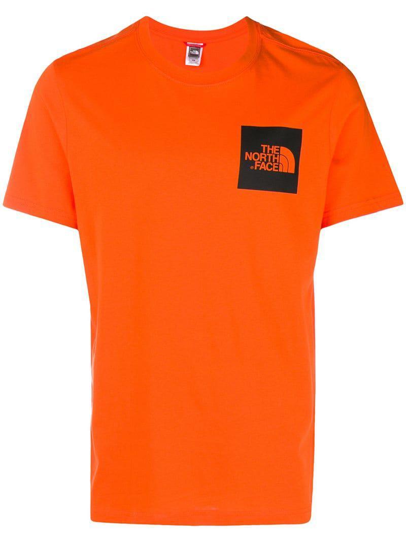 5bdf54e36 The North Face Logo Print T-shirt in Orange for Men - Lyst