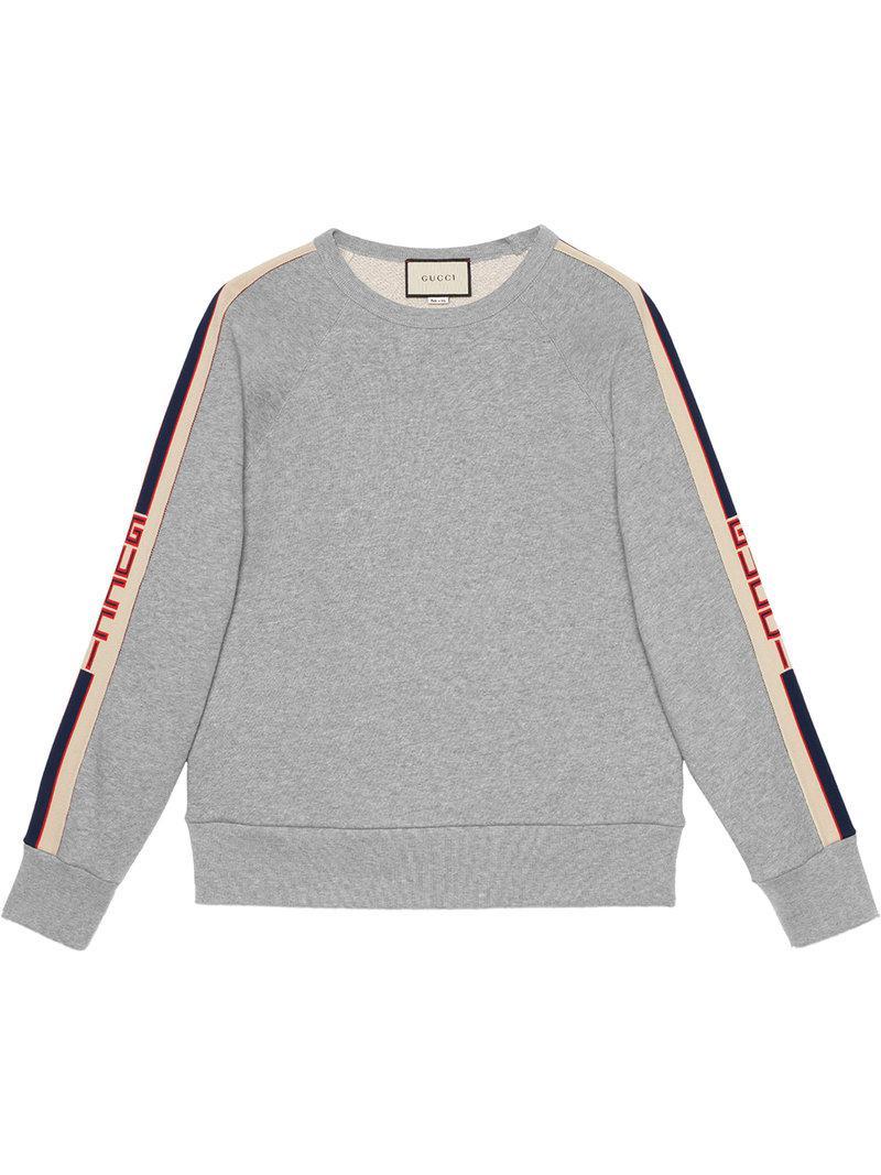 1a3e6384e8b Lyst - Sweat à bandes logo latérales Gucci pour homme en coloris Gris
