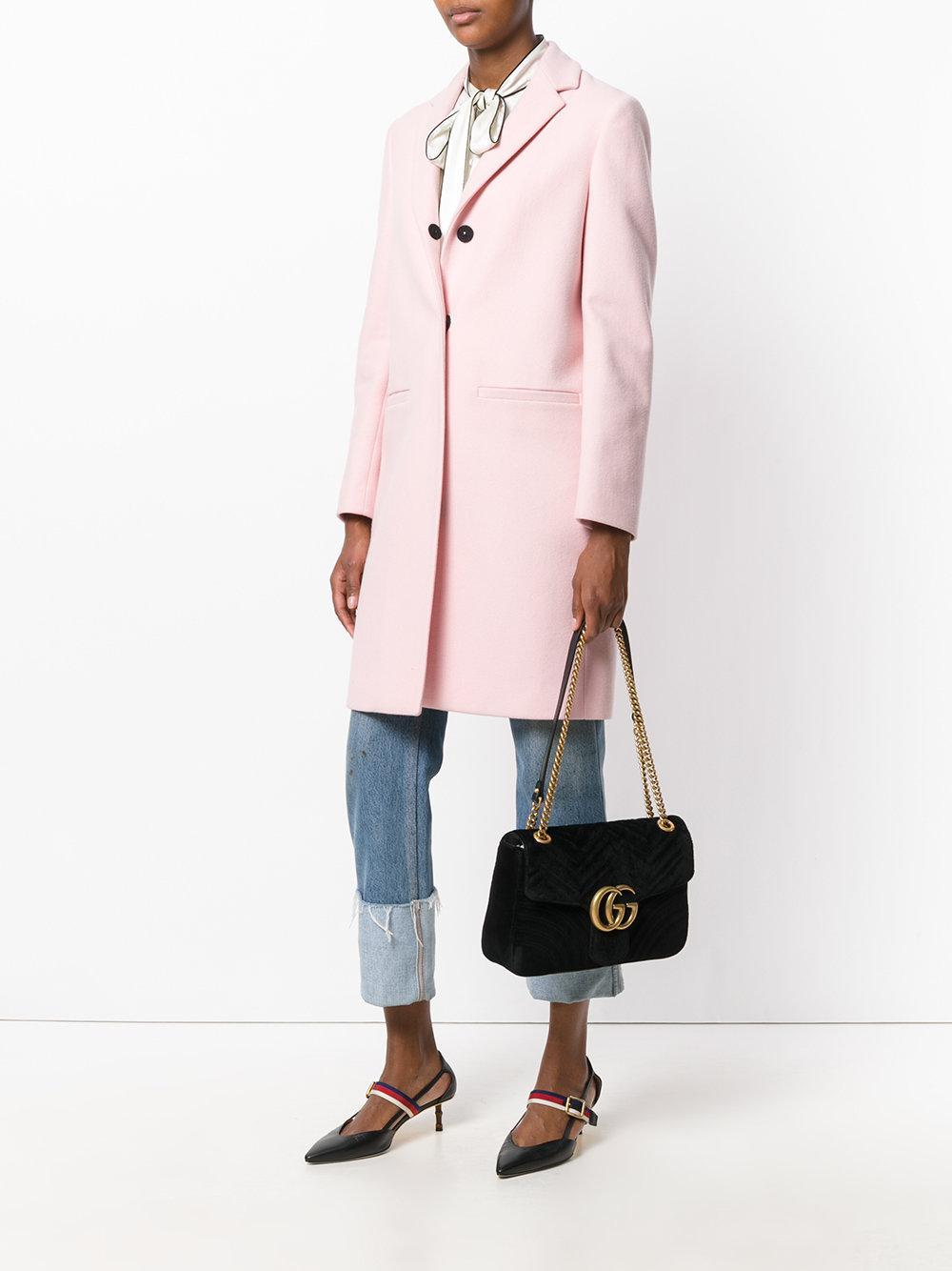 07d63b459d2 Lyst - Sac porté épaule Marmont 2.0 Gucci en coloris Noir
