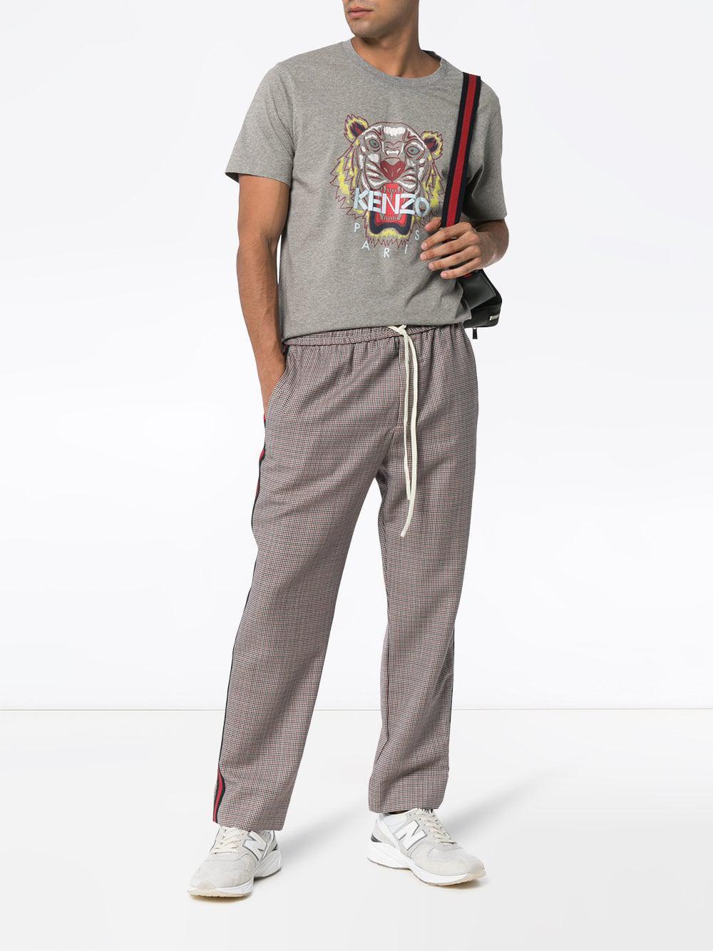 1c8d17684 KENZO Tiger Print T-shirt in Gray for Men - Lyst