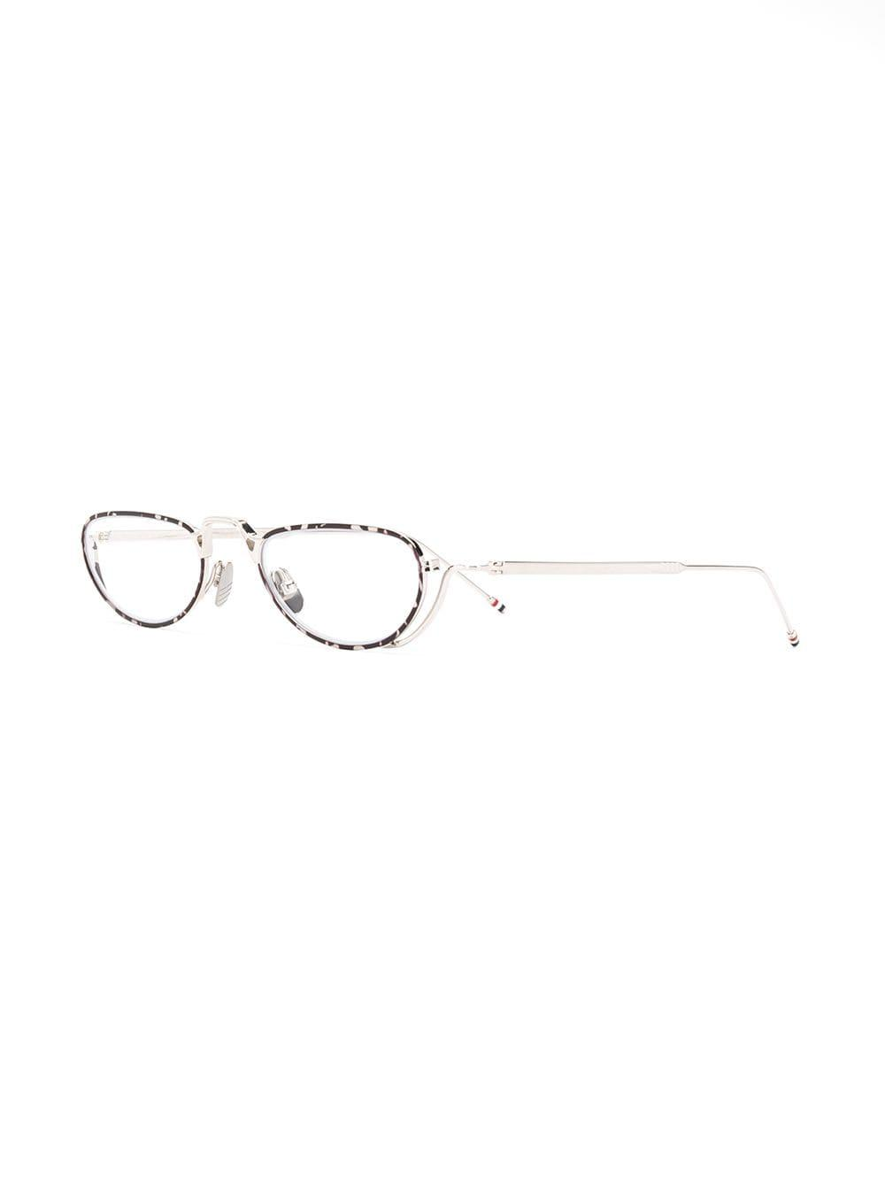 31996d6c0a Thom Browne Oval Frames Glasses in Metallic for Men - Save 1% - Lyst