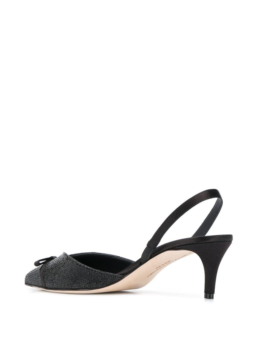 Zapatos de tacón con detalle de lazo Marco De Vincenzo de color Negro