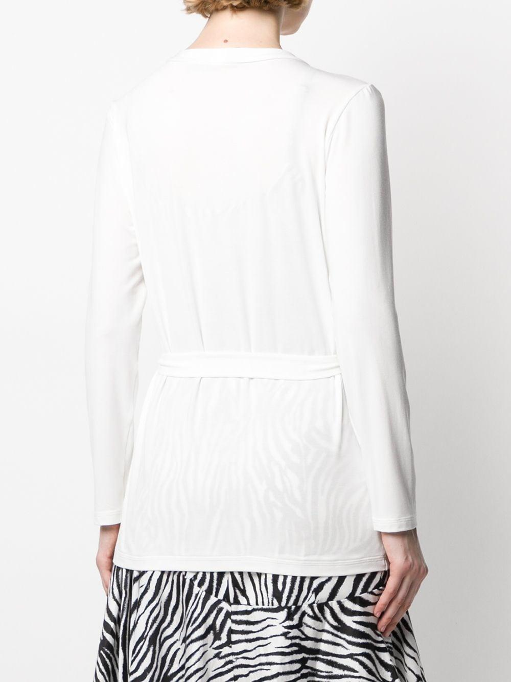Cárdigan con cintura lazada Styland de Tejido sintético de color Blanco