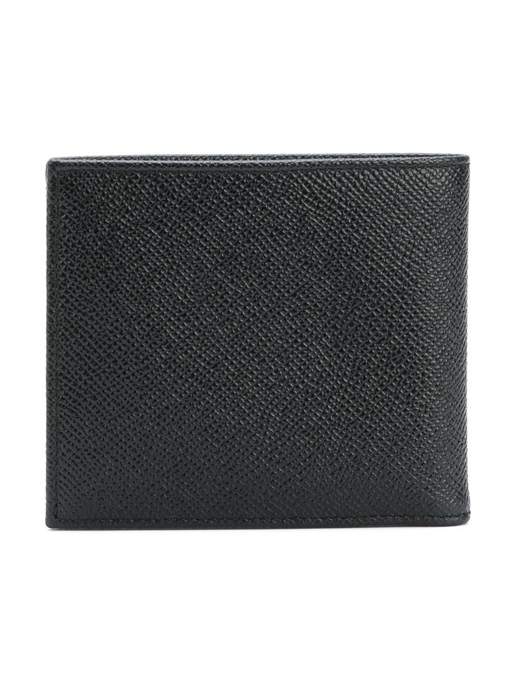 1d8b8a06e7 Lyst - Dolce & Gabbana Logo Plaque Billfold Wallet in Black for Men