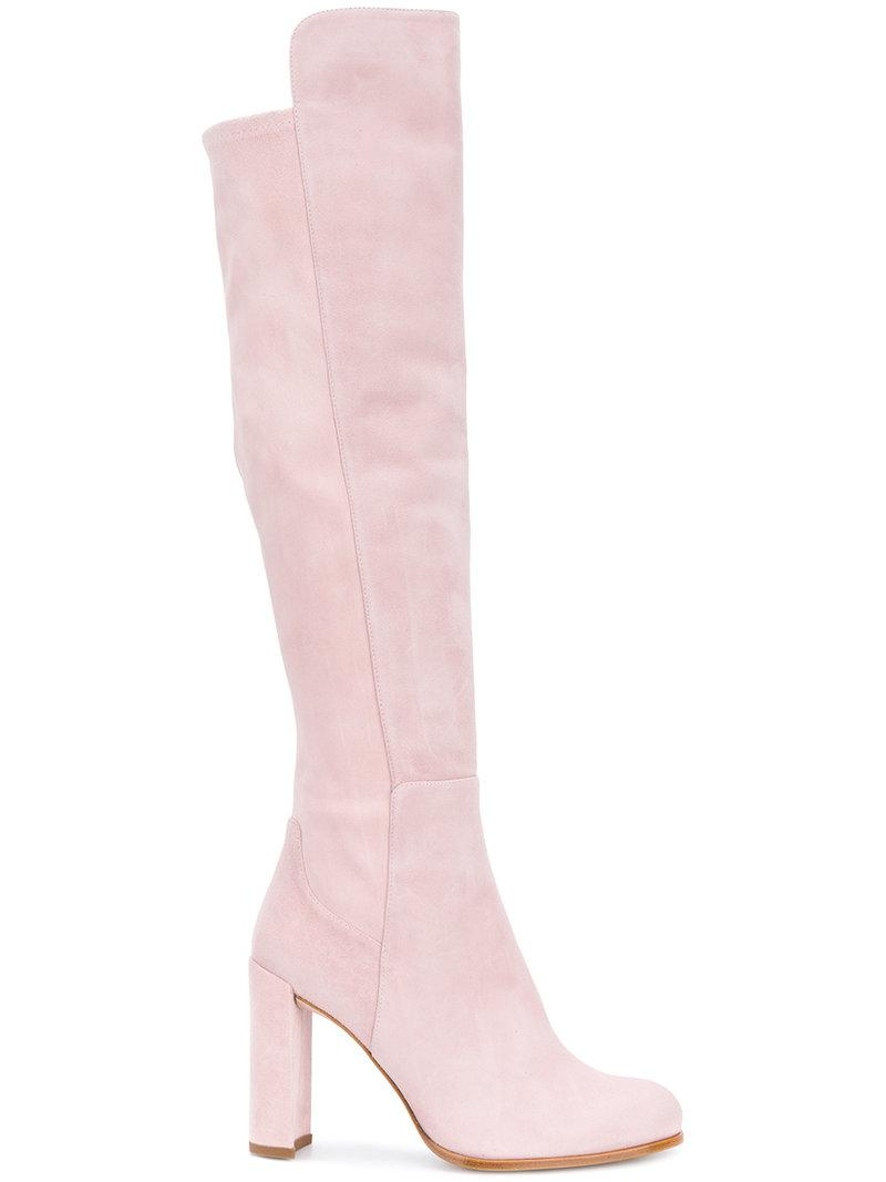 pink stuart weitzman shoes