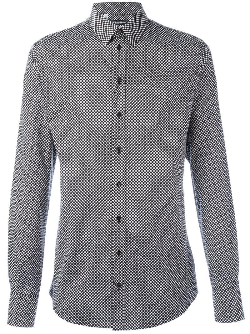 79ca762591fe Lyst - Chemise à pois Dolce   Gabbana pour homme en coloris Noir