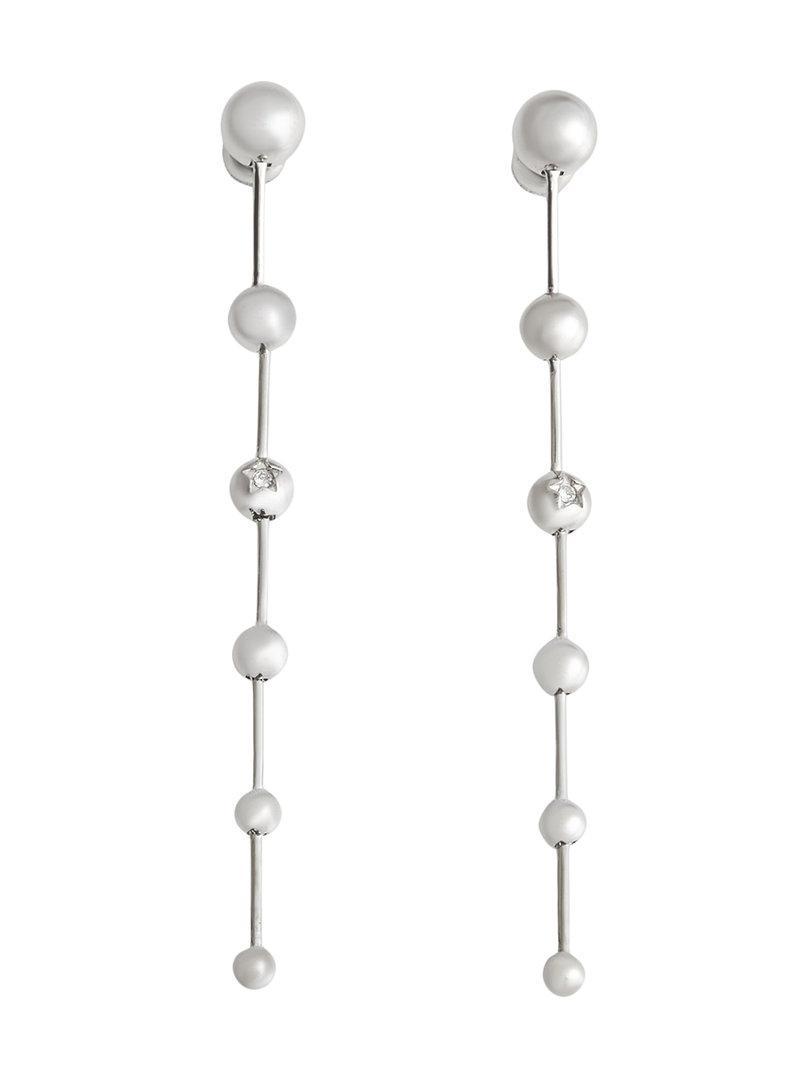 Burberry Crystal Charm Palladium-plated Drop Earrings - Metallic EuLviVA