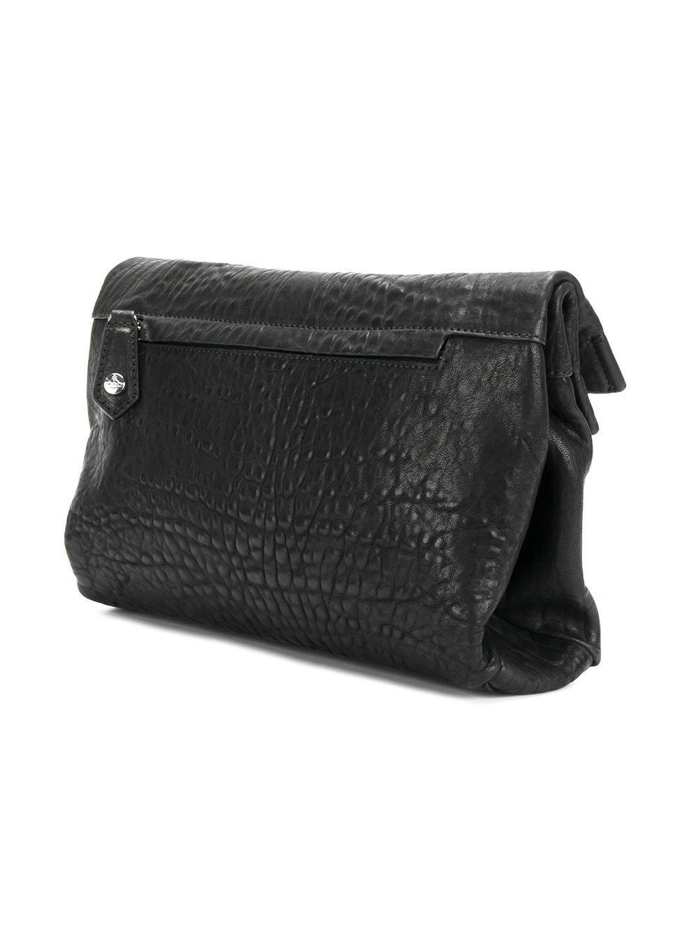 c1e113c008c Vivienne Westwood Oxford Clutch Bag in Black - Lyst