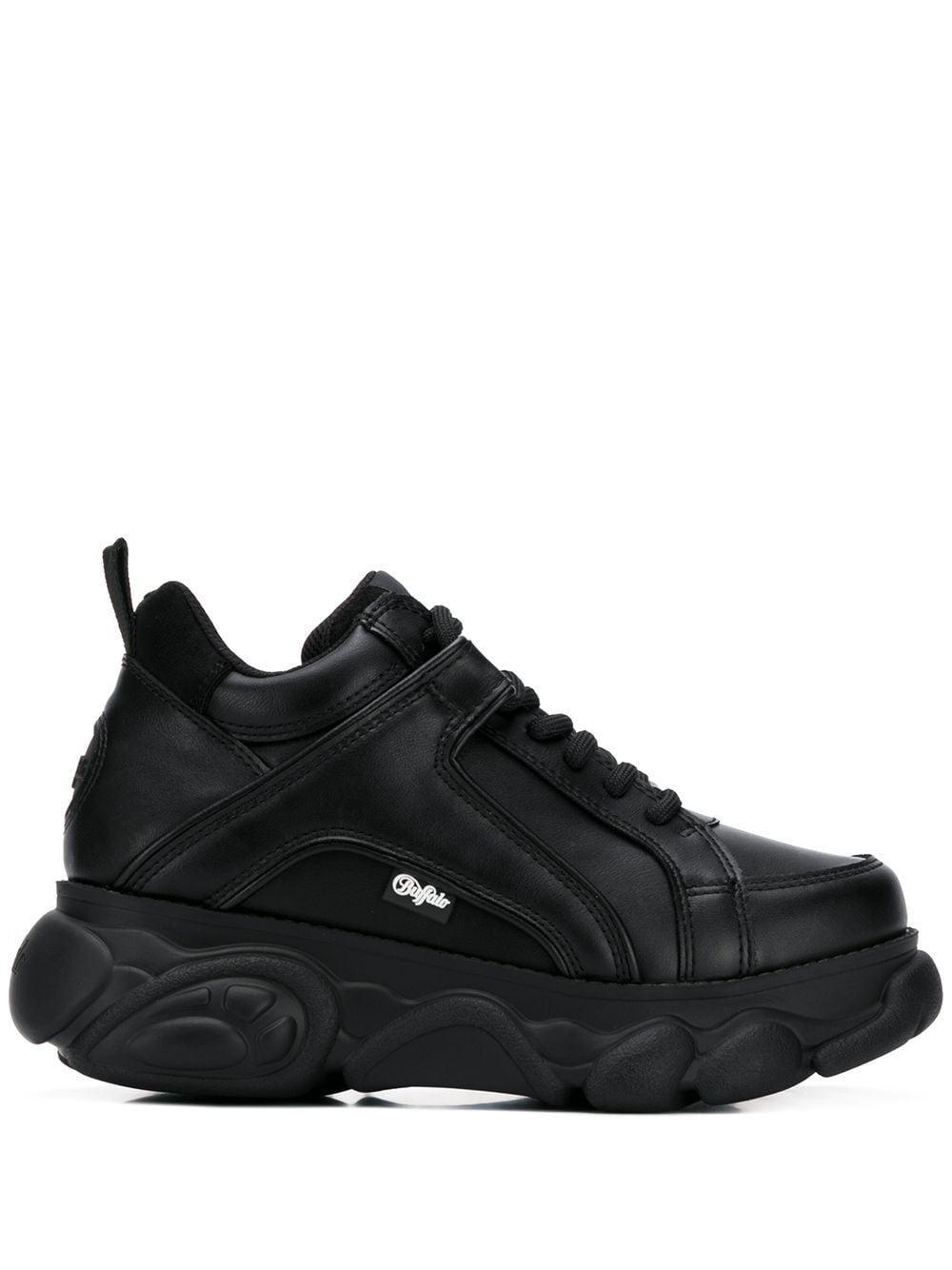 Buffalo Leather Corin Platform Sneakers