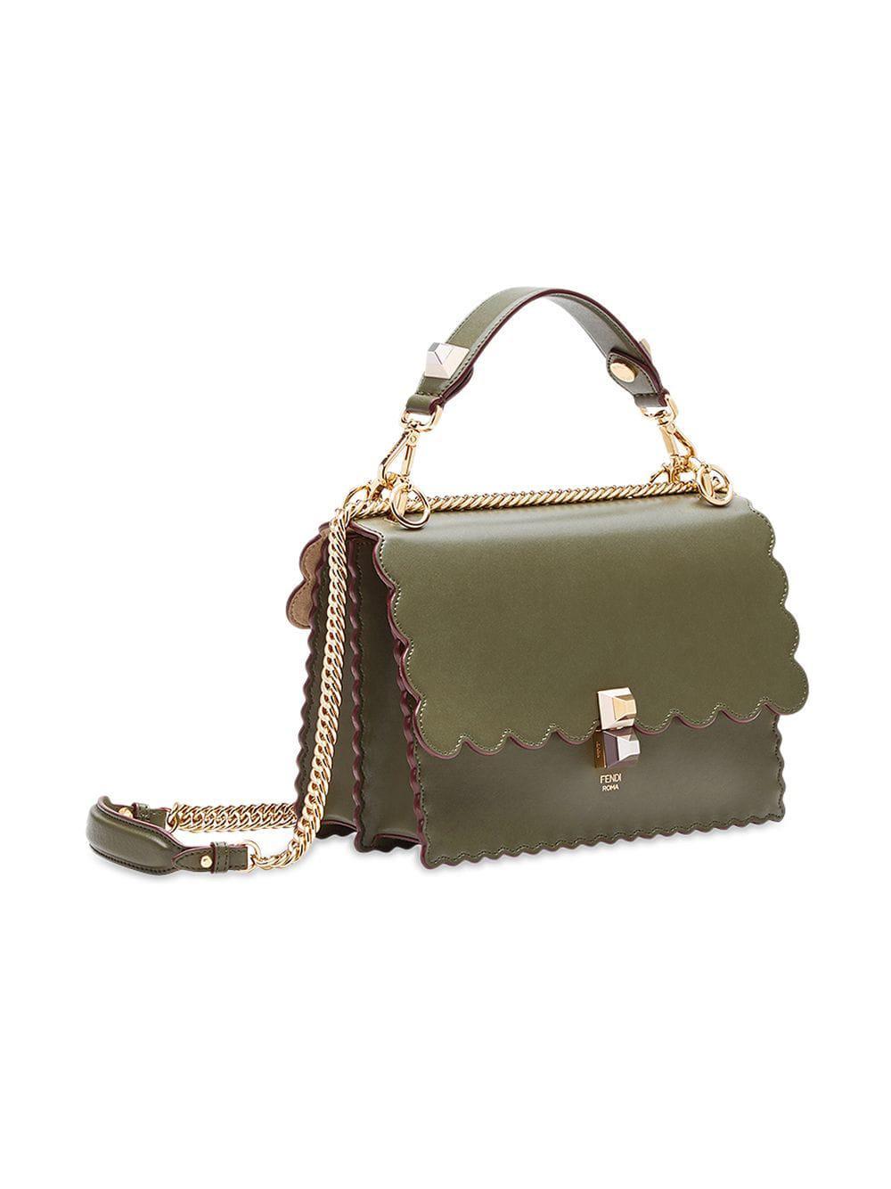 Fendi - Green Kan I Shoulder Bag - Lyst. View fullscreen 45e1c6b311381