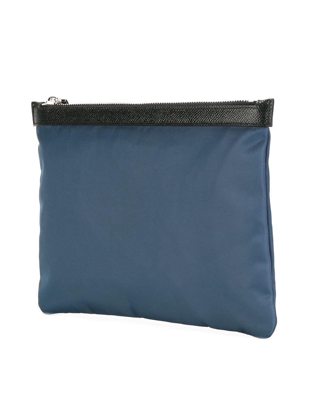 129f7aaef Pochette à patchs contrastants Dolce & Gabbana pour homme en coloris Blue