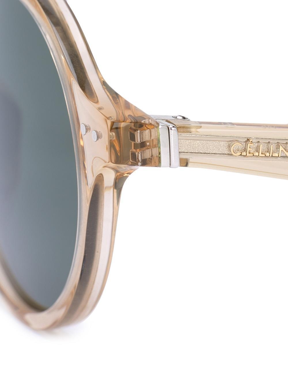 Celine Round Transparent Sunglasses