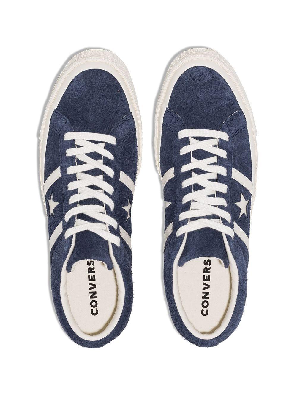 Converse Leer One Star Academy Low-top Sneakers in het Blauw voor heren