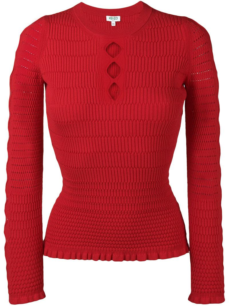 Fashion Style Sale Release Dates Kenzo cut-out fitted jumper Pay With Visa New Release 7dtYXuP