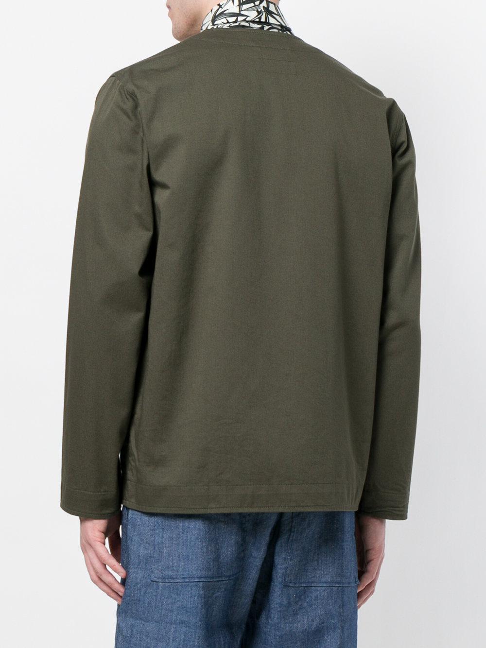 Universal Works Cotton Cabin Lightweight Jacket in Green for Men