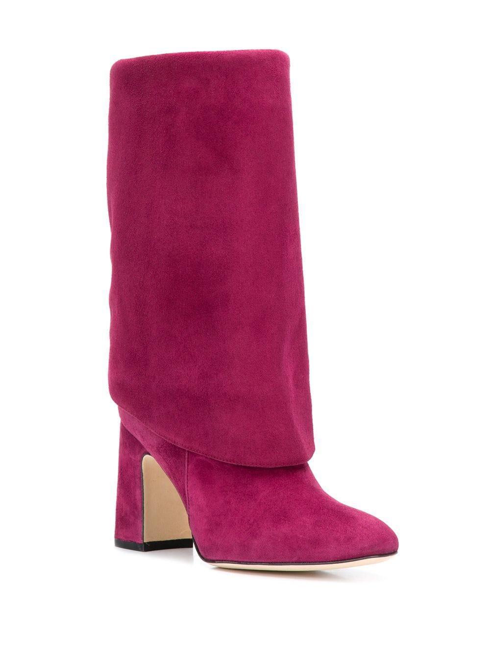 Botines Lucinda Stuart Weitzman de Cuero de color Rosa