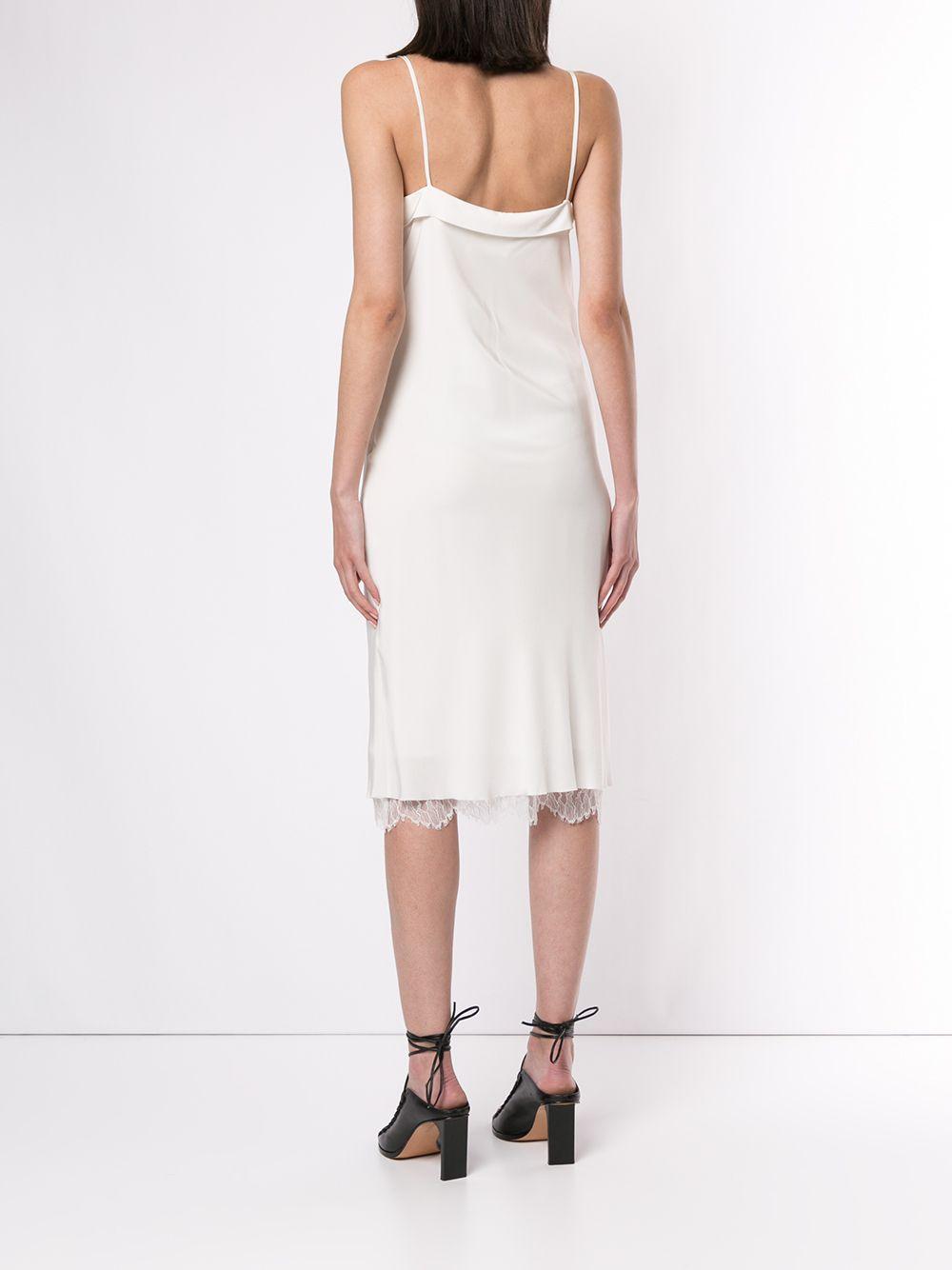 Robe courte à fines bretelles Dentelle Dion Lee en coloris Blanc