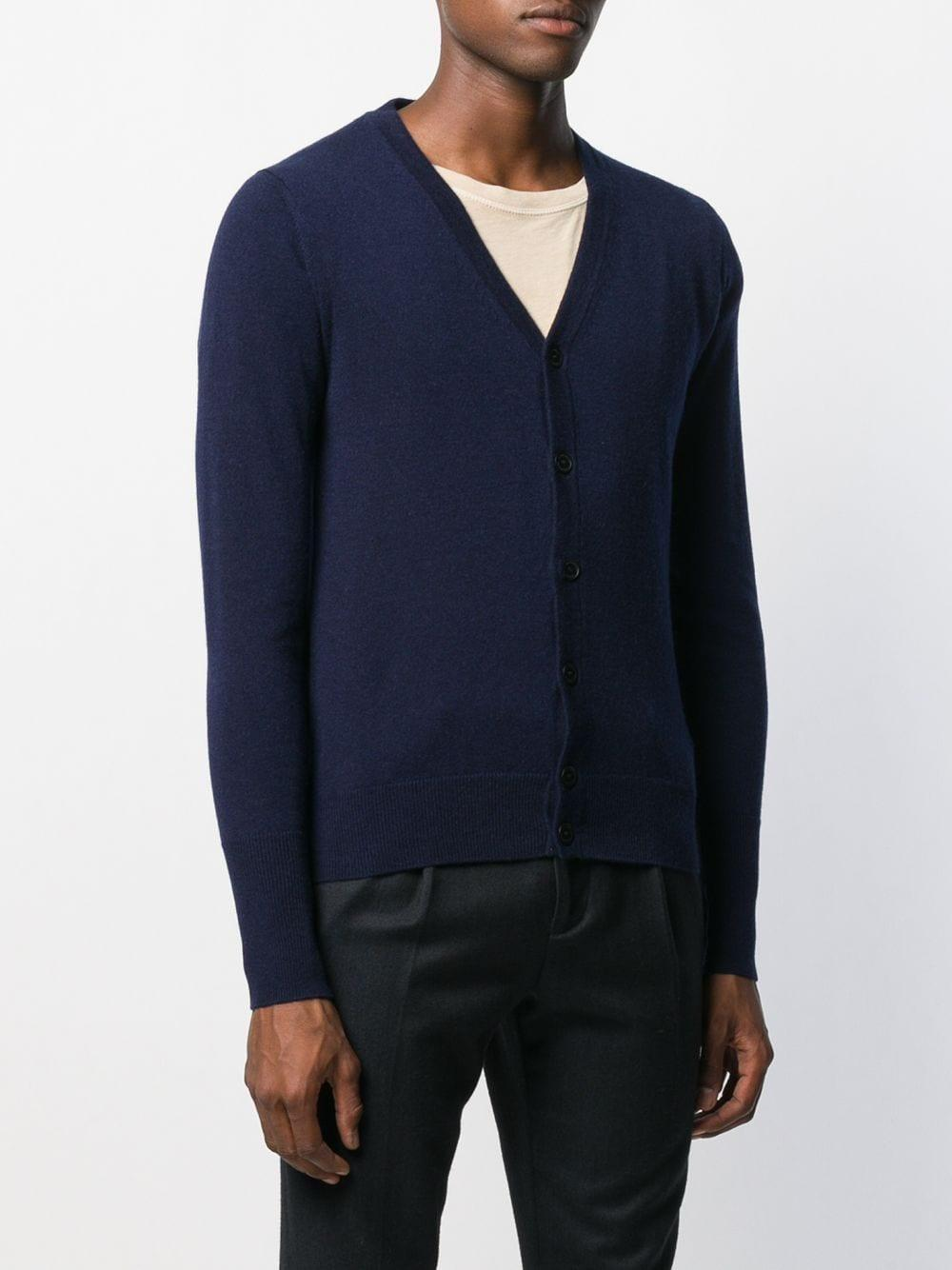 Ballantyne Kasjmier Vest Met V-hals in het Blauw voor heren