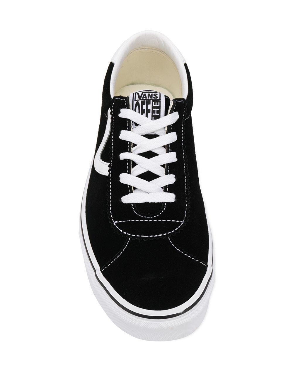 Vans Katoen Low-top Vetersneakers in het Zwart voor heren