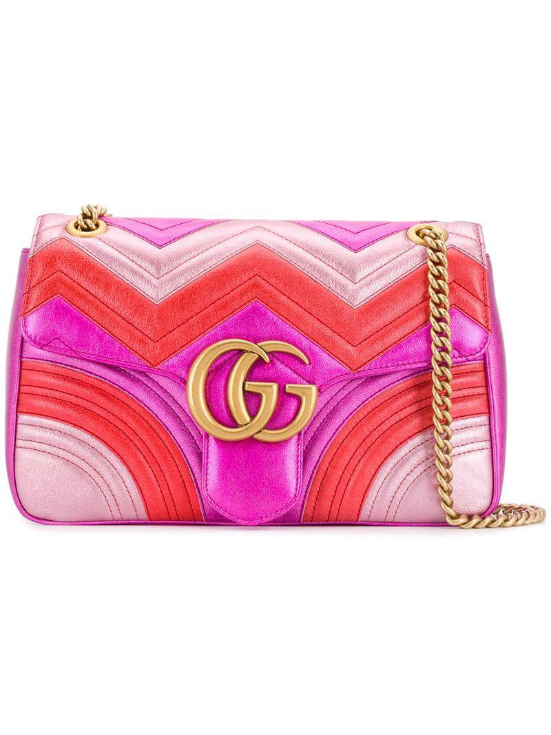05b006f97bef1 Lyst - Gucci Marmont Bag in Pink
