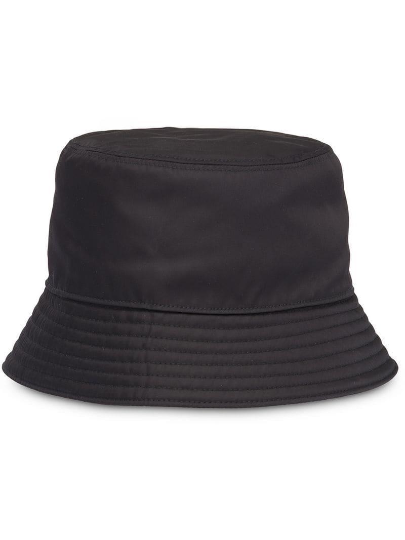 71dbd2de Prada Technical Fabric Cap in Black - Lyst
