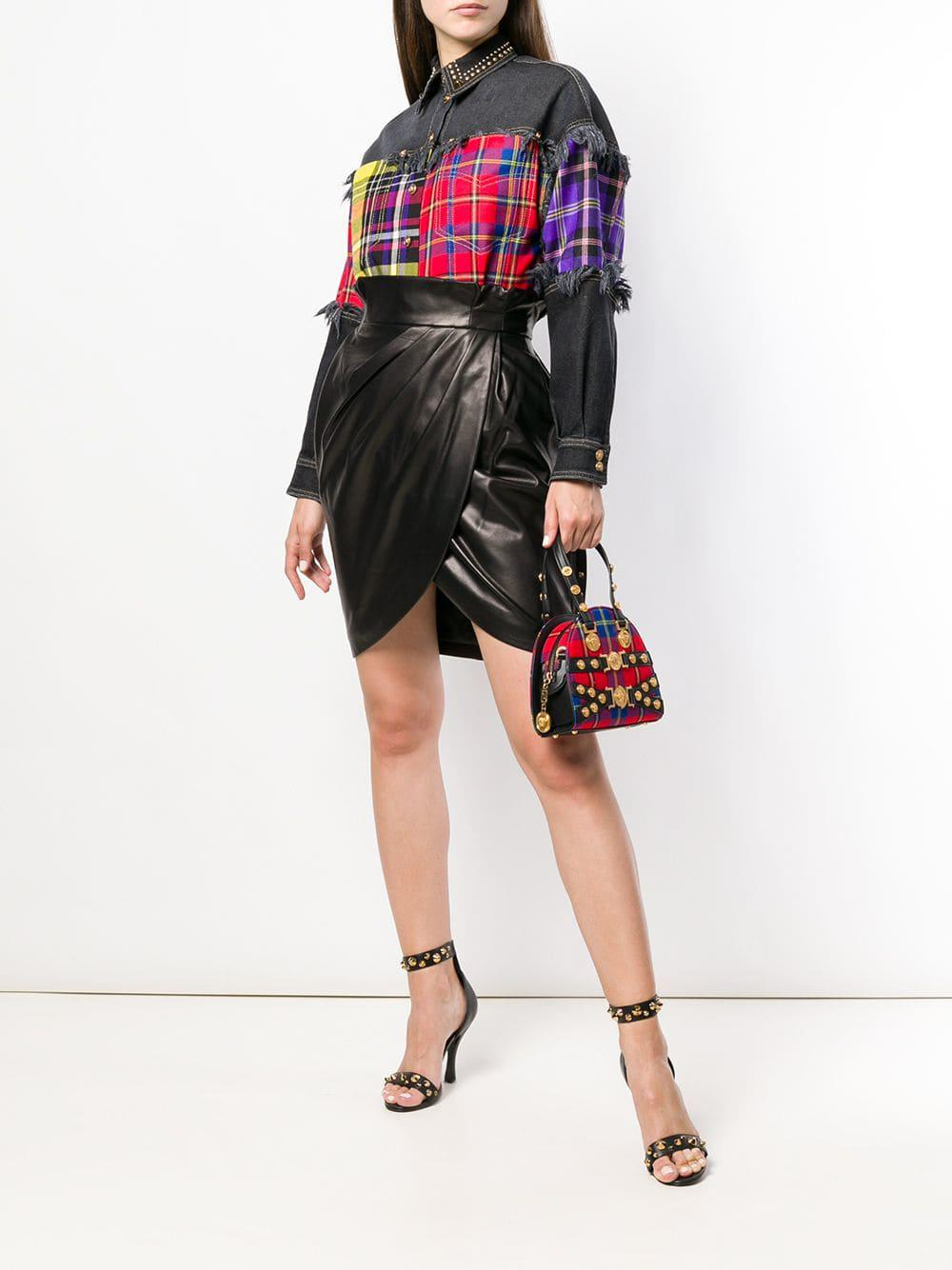 Versace En Lyst Coloris Main À Rouge Tartan Tribute Sac Mini fpCqw4Z