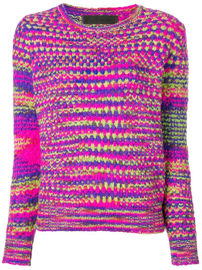 Knit Cashmere Mesh Sweater Elder Statesman Women's Pink The YCBgwqI
