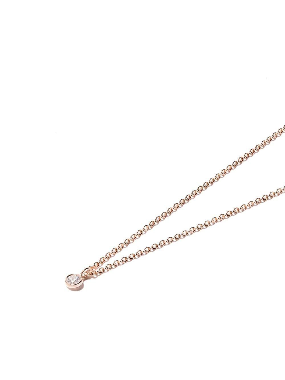 De Beers 18kt Rose Gold My First One Diamond Pendant Necklace in Metallic